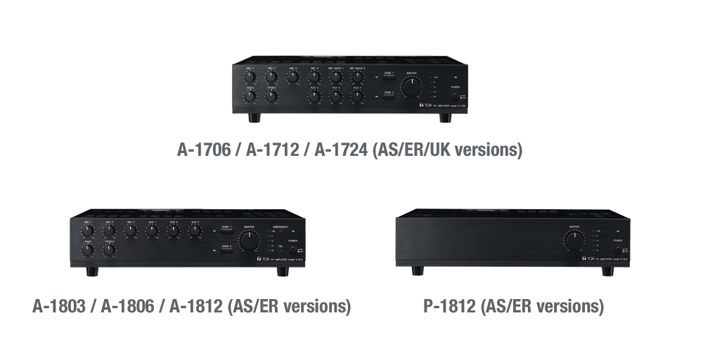 Discontinuation of A-1700 series, A-1800 series, RM-200X, RM-200XF and ZM-9003