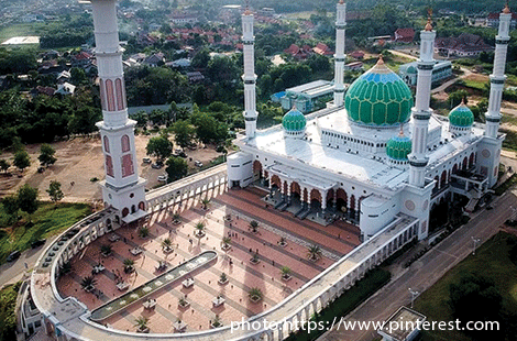Indonesia : Grand Mosque Islamic Center Rokan Hulu, Riau